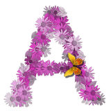 vokal för alfabetisk bokstav arkivbild