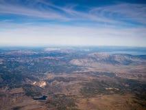 Vol à la région du lac Tahoe Image stock
