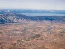Vol à la région du lac Tahoe Images libres de droits