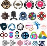 VOL. 01 логотипа установленный стоковая фотография