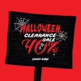 VOL. распродажи хеллоуина дизайн рубрики 2 40 процентов для запрета Стоковые Изображения RF