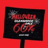 VOL. распродажи хеллоуина дизайн рубрики 2 60 процентов для запрета Стоковое фото RF