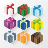 VOL. собрания подарочной коробки установленный 1 Иллюстрация вектора
