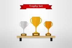 VOL. чашки трофея установленный 2 Стоковые Фото