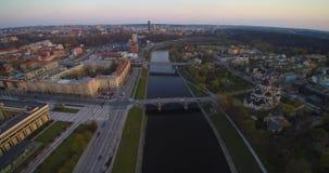 Vol aérien à Vilnius banque de vidéos