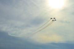 Vol acrobatique aérien Images libres de droits