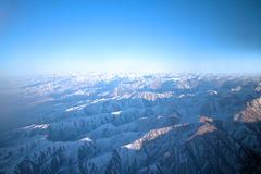 Vol au-dessus de Pamir et de Tien Shan 1 Image stock