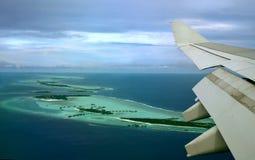 Vol au-dessus des îles Photo libre de droits
