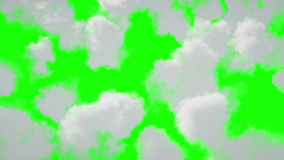 Vol au-dessus des nuages Animation 4K réaliste Écran vert clips vidéos