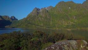 Vol au-dessus du fjord banque de vidéos