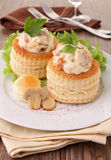 Vol au vent. Gourmet plate with vol au vent Royalty Free Stock Images