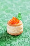 Vol-au-vent with caviar Stock Photo