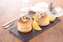 Vol au vent with chicken and mushroom Royalty Free Stock Photography