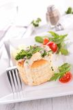 Vol au vent with chicken and mushroom Royalty Free Stock Images