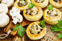 Vol au vent with mushroom stuffing Stock Image