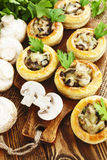 Vol au vent with mushroom stuffing Royalty Free Stock Photography