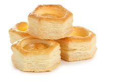 Vol-au-vent pastry shell Royalty Free Stock Photo