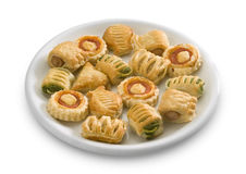 Vol-au.vent, pizzette, appetizers Stock Images