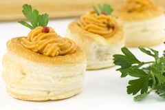 Vol au vent with salmon sauce Royalty Free Stock Image