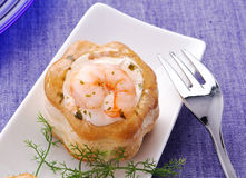 Vol au vent with shrimp in jelly Stock Images