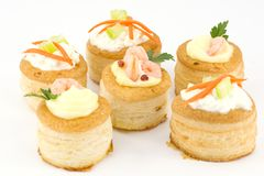 Vol au vent stuffed Royalty Free Stock Photography