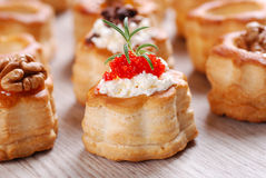 Vol au vent stuffed Royalty Free Stock Photo