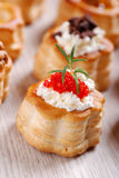 Vol au vent stuffed Stock Photo