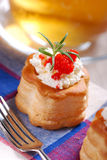Vol au vent stuffed Stock Photography
