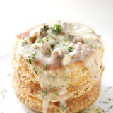Vol au Vent with Veal Ragout. Delicious vol au vent filled with veal ragout Royalty Free Stock Images