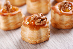 Vol au vent with walnuts Royalty Free Stock Photos