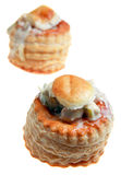 Vol au vents chicken in sauce Royalty Free Stock Image
