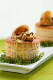 Vol-au-vents filled with mushroom Stock Photography