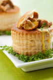 Vol-au-vents filled with mushroom Royalty Free Stock Images