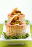 Vol-au-vents Filled With Mushroom Royalty Free Stock Photo