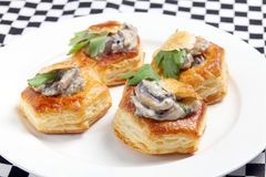 Vol au vents on a plate Royalty Free Stock Images