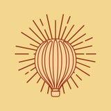 Vol chaud d'air de ballon illustration stock
