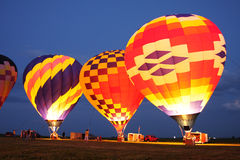 Vol chaud de ballons à air Image stock