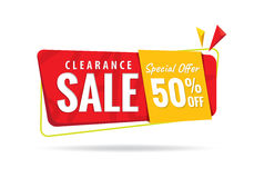 Vol. 2 Clearance Sale red yellow 50 percent heading design for b Royalty Free Stock Photos