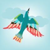Vol coloré d'oiseau Photos libres de droits
