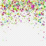 Vol coloré tombant les éléments de la décoration de la célébration Fond abstrait avec les confettis en baisse Images libres de droits