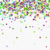 Vol coloré tombant les éléments de la décoration de la célébration Fond abstrait avec les confettis en baisse Photo stock