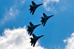 Vol d'équipe de su-27 Images libres de droits