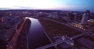 Vol d'antenne de gratte-ciel de Vilnius clips vidéos