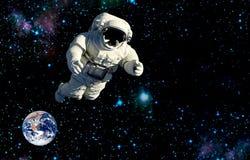 Vol d'astronaute dans l'espace extra-atmosphérique tient le premier rôle le tourisme illustration stock