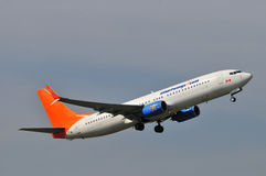 Vol d'avion de Sunwing Image stock