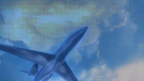 Vol d'avion de voyage d'affaires illustration libre de droits