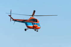 Vol d'hélicoptère Photographie stock