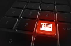 Vol d'identité en ligne Image libre de droits