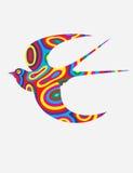 Vol d'oiseau d'hirondelle Images libres de droits