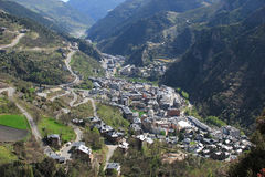 vol d'oiseau de l'Andorre Image stock
